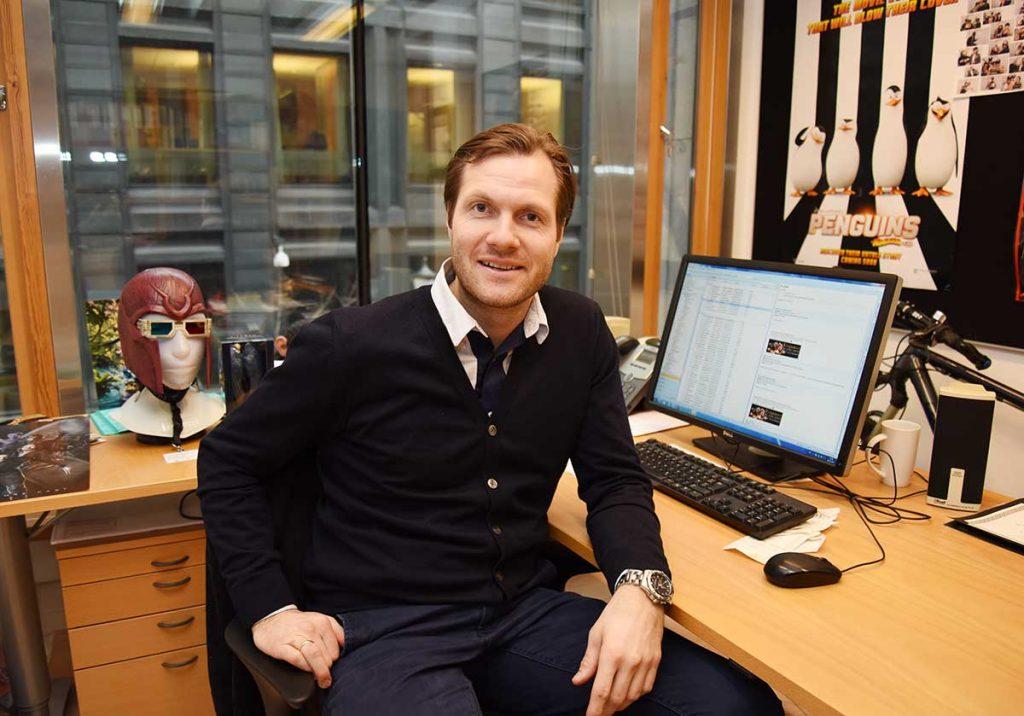 Adm. direktør Tore Fredrik Dreyer i 20th Century Fox Norge. Foto: John Berge, KINOMAGASINET ©