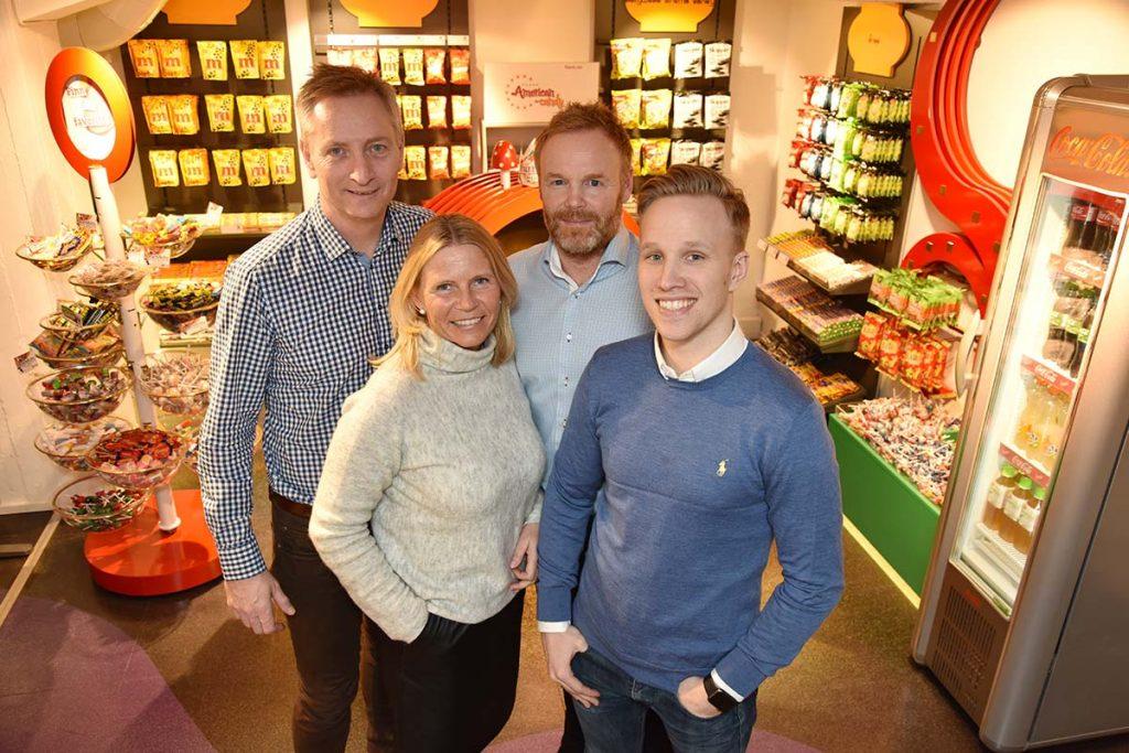 LOCATION-TEAMET: (fra venstre): Lars Rundegreen (driftssjef), Hanne Siri Kristensen (driftskoordinator), Oddvar Engan (adm. dir) og Christian Heger (markedssjef). Foto: John Berge, KINOMAGASINET ©
