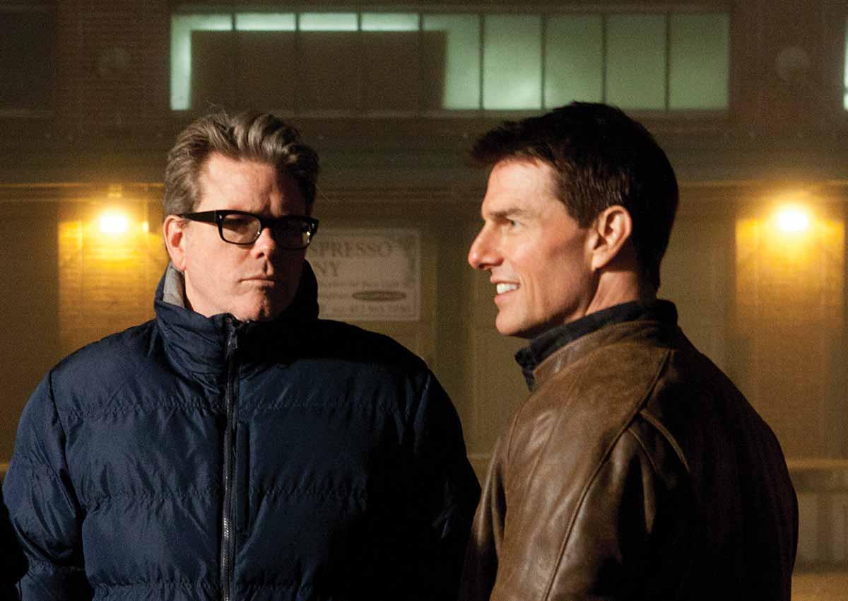 Christopher McQuarrie og Tom Cruise under innspillingen av Jack Reacher (2013). Foto: Paramount