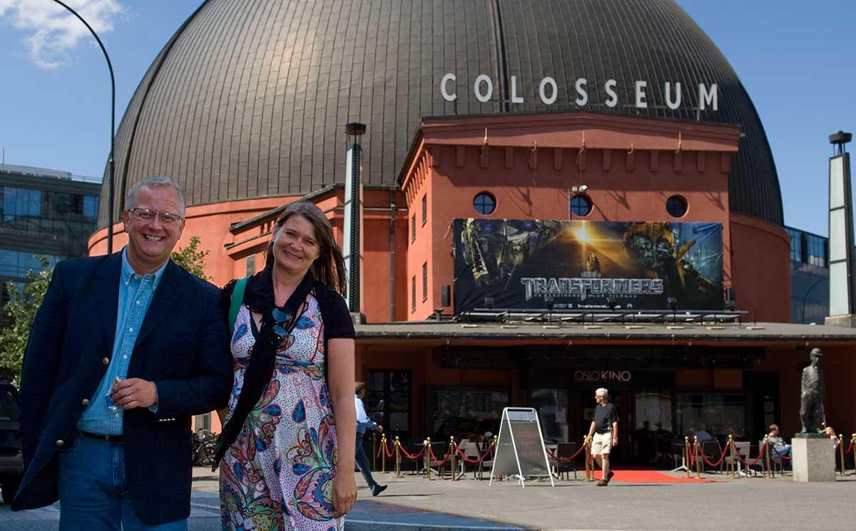 Den gang da: Ivar Halstvedt (t.v.) og Christin Berg (Oslo Kino) jobbet sammen. Men nå er Halstvedt direktør for SF Kino. Arkivfoto: Vebjørn Storeide