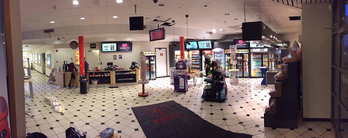 NYOPPUSSET KIOSK: SF Kino Skien fikk en ansiktsløfting i 2015. Foto: SF Kino Skien.