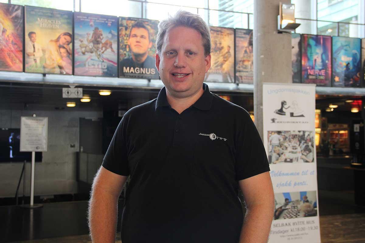 Kinosjef Jørgen Søderberg Jansen i Fredrikstad Kino høsten 2016. Foto: John-Håkon Asker, KINOMAGASINET ©