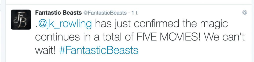 POPULÆR TWEET: Mange var begeistret da flere filmer ble bekreftet nok en gang på filmens offisielle Twitter-profil.