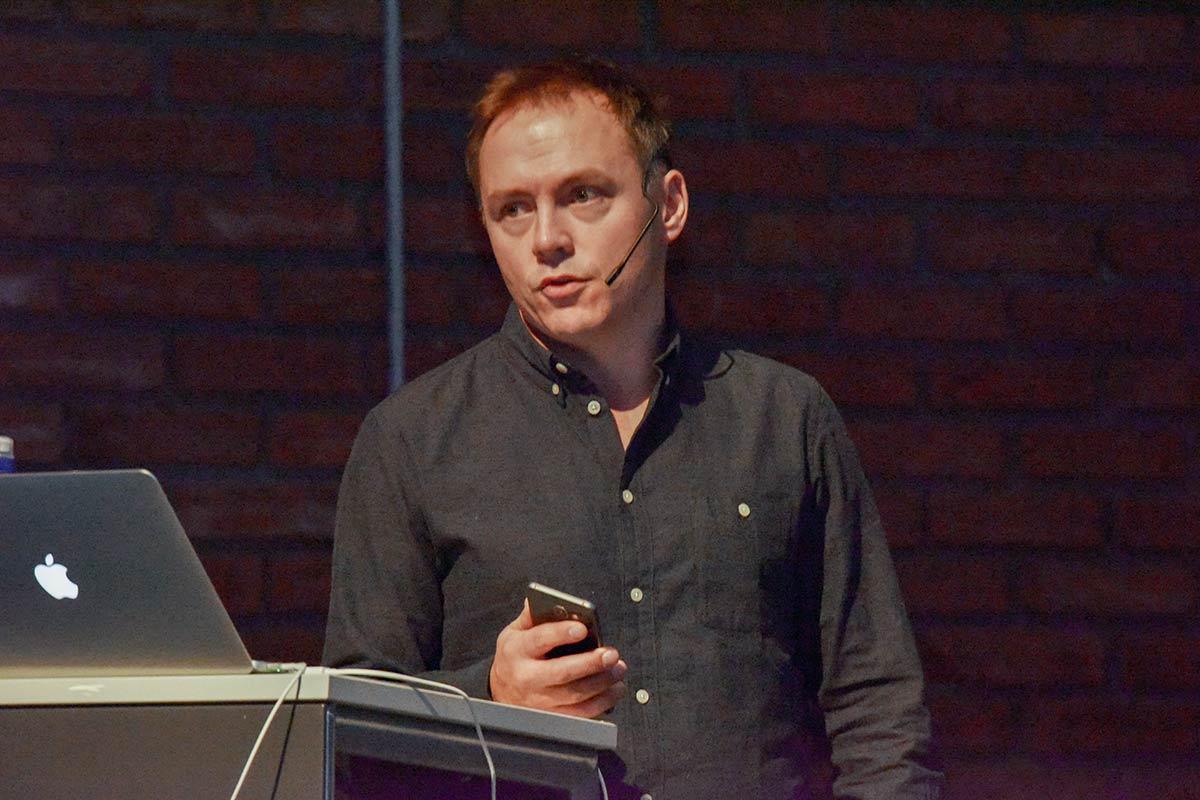 Produktsjef Ken Håkegård i Filmweb under Den norske kinokonferansen 2016. Foto: John Berge, KINOMAGASINET.
