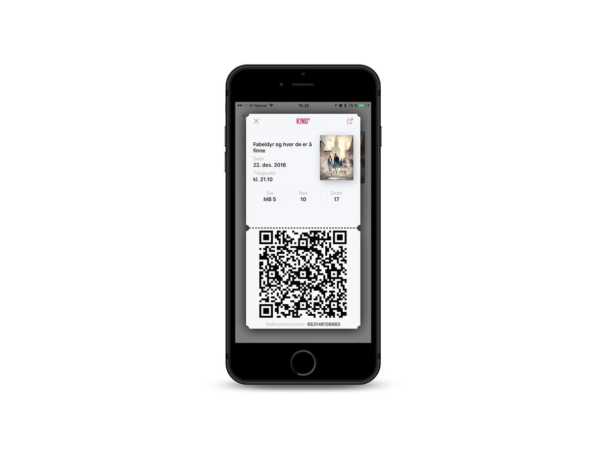 Bergen Kinos app, utviklet av CAPA Kinoreklame i samarbeid med Filmgrail, kan også vise billetten digitalt.