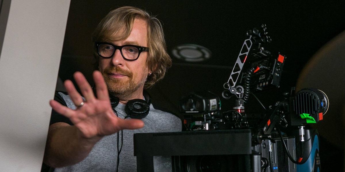 Morten Tyldum under innspillingen av Passengers.