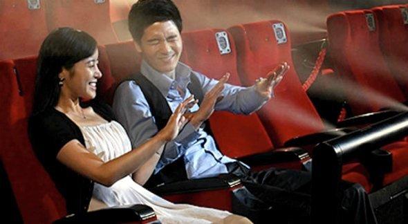 Vil du se film og være «endel av filmen» så godt det lar seg gjøre? Slik kan det gjøres, ifølge illustrasjonsbildet fra det sørkoreanske firmaet CJ 4DPLEX.