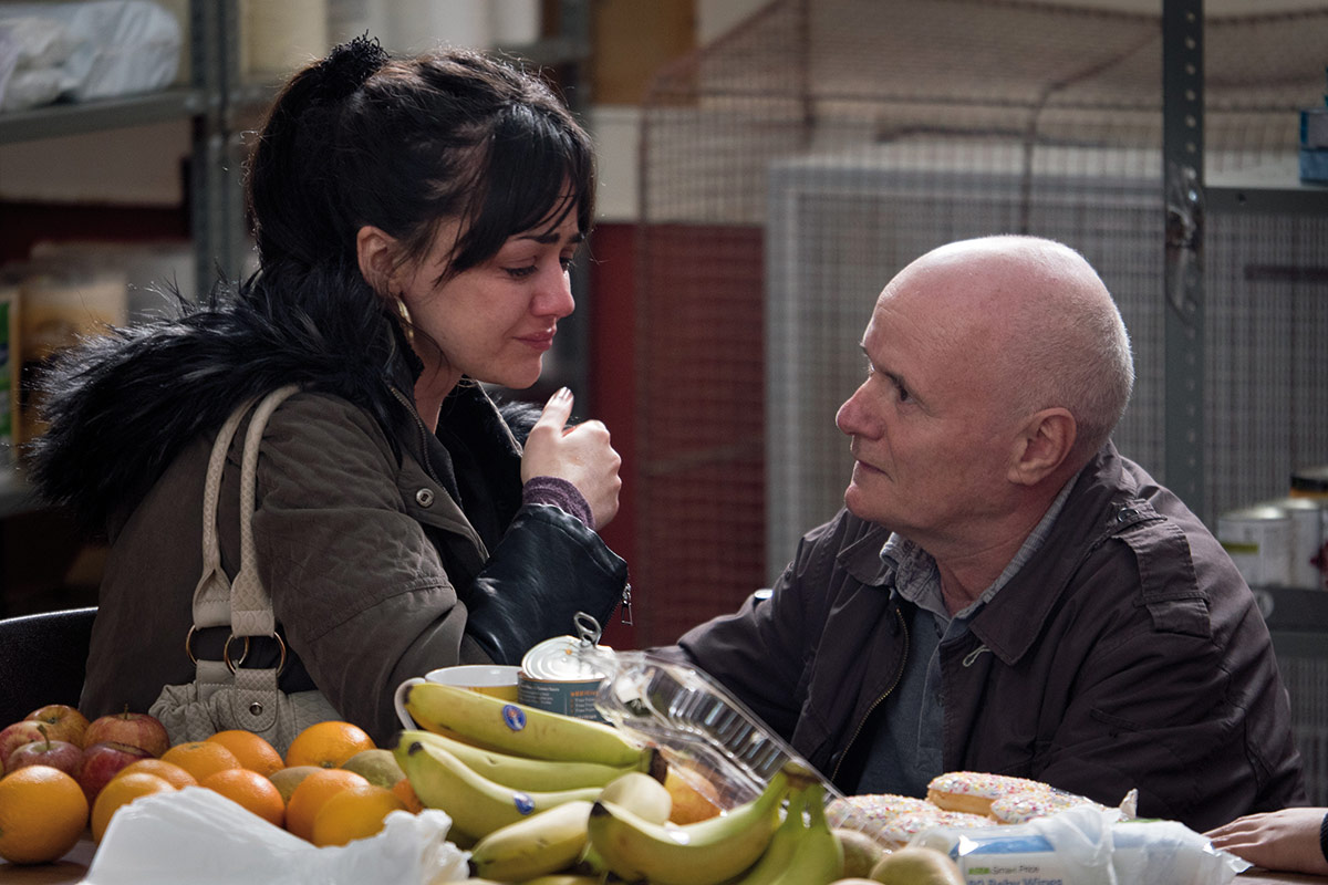 Dave Johns som Daniel Blake og Hayley Squires som Katie Morgan.